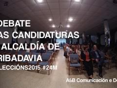 Debate dos candidatos á alcaldía de Ribadavia. Eleccións 2015